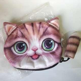 Cat Coin Zip Purse