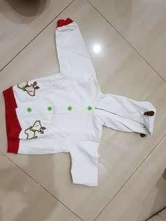 Jaket Eyka putih ukuran 6-9 bulan