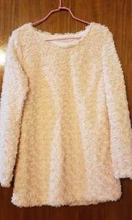 🈹👗 全新淺粉紅🌹毛毛長身裙 Brand new light pink 🌹 dress