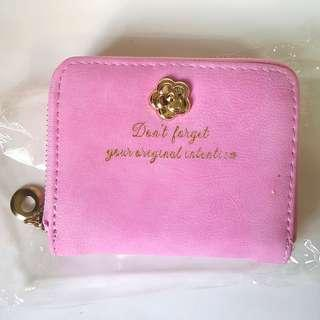 Pink Short Zip Wallet
