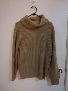 Brown knit turtleneck