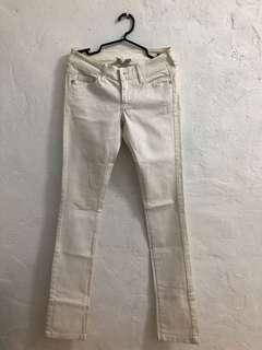 Low waist white pants