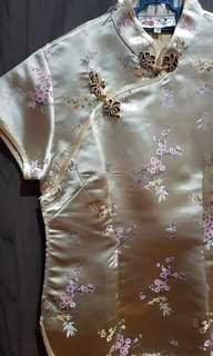 BRAND NEW Cheongsam (Champagne color)
