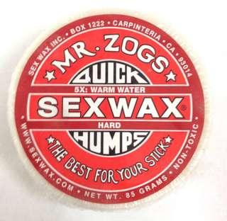 Mr Zogs Sex Wax Quick Humps 85grams 5x Hard Warm