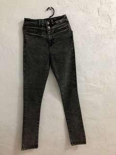 Pre-loved black high waist maong pants