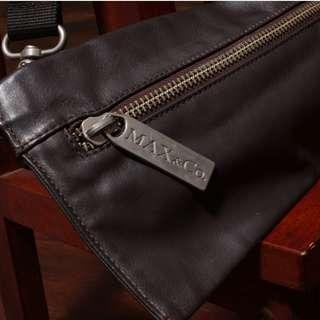 MAX & CO  details genuine Leather Convertible waist Crossbody Bag