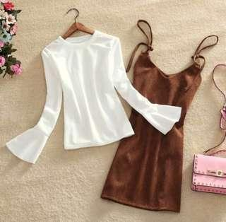 🚚 Bell sleeve top in white