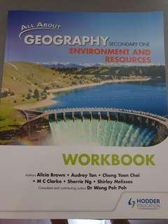 All about Geograpghy Secondary 1 workbook Hodder Education