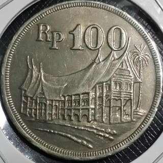 Indonesia 1973 100 rupiah