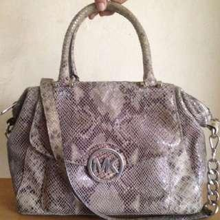 Original Michael Kors Fulton Snakeskin Satchel Bag