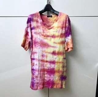 Handmade Tie Dye Tshirt (Sunset Reds)