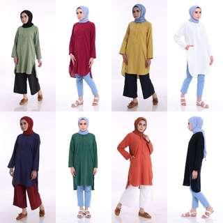 MEHDIA LINEN TOP baju blouse peplum kurta kurti dress mahdia jubbah jubba jubah juba