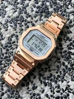 💕💕💕💯% Authentic DW5600 in Custom metal rose gold bezel and bracelet , metal dw5600 , metal gshock , g-shock , G-Shcok , G-SHOCK , Casio , CASIO , casio