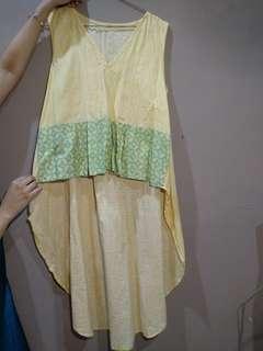 Batik blouse modern kantor jalan