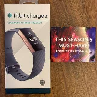 UOB Limited Edition RoseGold FitBit Charge 3