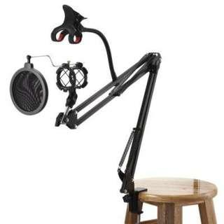 SCIMELO NB35 - S Professional Microphone Stand Suspension Boom with Pop Filter