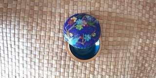 Blue Round Jewelry Box