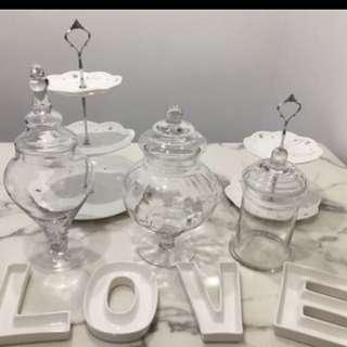 婚後物資 love字盤 玻璃瓶 candy corner