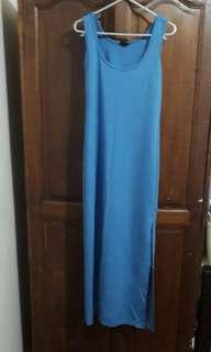 H&M Blue Sleeveless Maxi Dress