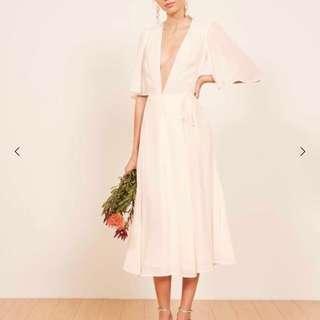 BNWT Reformation Rhodes Dress in Ivory