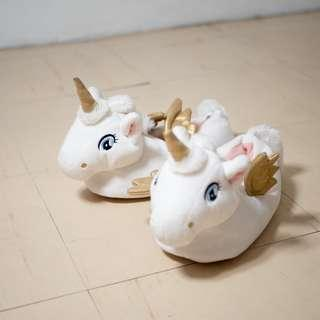 H&M White Unicorn Soft Slippers with Tag