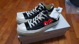 Converse X CDG PLAY Black US 9
