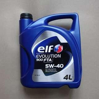 Elf Evolution 900FTA 5W40全合成偈油 4L (Engine oil) ! ( 產地: 新加玻 )