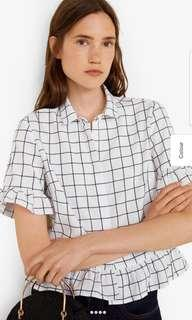 Mango ruffle blouse
