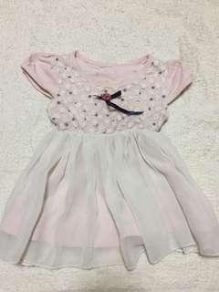 🚚 粉紅點點洋裝-1y