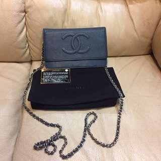 Authentic Chanel Single Flap Chain Bag
