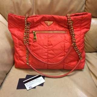 Authentic Prada Chain Shoulder Bag