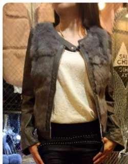 Made in Korea 韓國 超滑 免毛皮褸 灰色 jacket 女裝