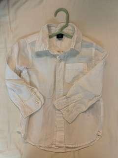 🚚 Gap 3T 白襯衫