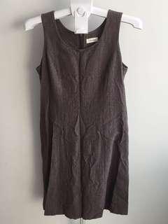 Sleevless Striped Work Dress
