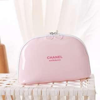 3ee542b006837c Chanel Maquillage Clam Shell Pouch / Clutch Bag (Light Pink) ASC3276+ FREE