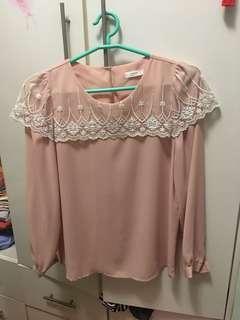🌹韓國粉橙色上衣
