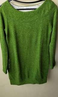 🚚 綠色長版上衣