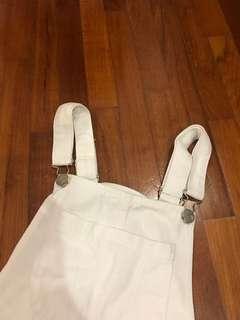Women unisex cotton on white jumpsuit