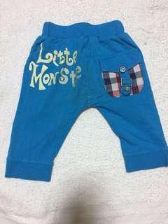 🚚 藍色格紋褲-1y