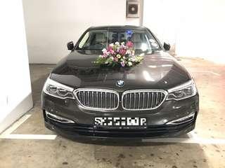 BMW 5 Series Grey Rental w/ Driver