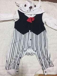 🚚 紳士條紋連身衣-1y