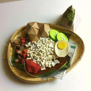 Nasi Lemak Paper Origami