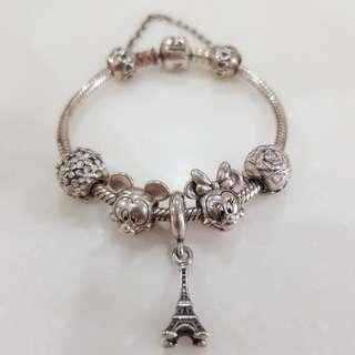 [free postage] Authentic Pandora Bracelet with charms