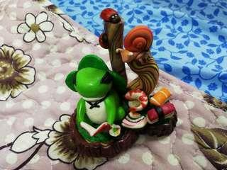 🚚 Handmade traveling frog
