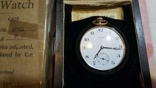 1901 Howard Pocket Watch w/ box , papers and certificate