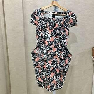 Asos rose print dress