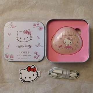 SANRIO Hello Kitty 3合1 尿袋+鏡盒+暖手蛋 Handle Makeup Mirror