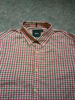 ASOS Button-down Plaid Shirt Long Sleeve Size M