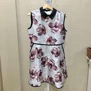 Sense floral collar dress