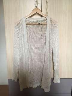 Oversized Cream Knit Cardigan